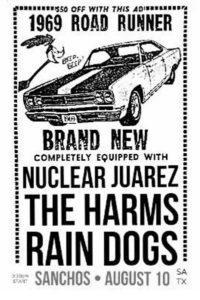 Nuclear Juarez, The Harms, the Rain Dogs, Aug 10, 2019