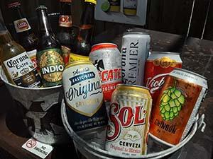 Sanchos serves Mexican beer